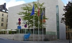 Entrance to the National Museum of History and Art in Luxembourg City.