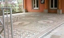 The Roman mosaic in Vichten, Luxembourg.