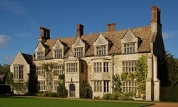 The south facing facade of Anglesey Abbey country house.