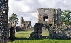 Baconsthorpe Castle is a 15th century manor house managed by English Heritage.