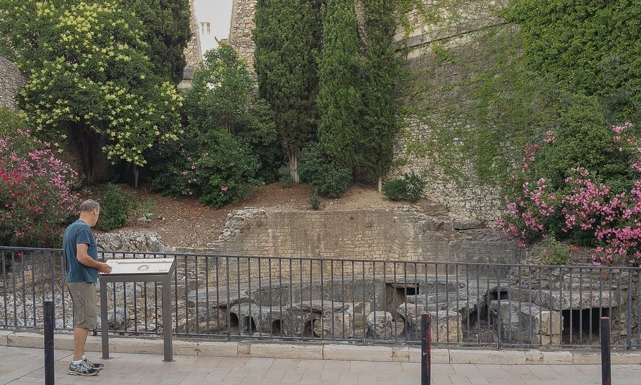 The Castellum Aquae on Rue de la Lampeze, Nîmes.
