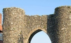 The Bailey gate of Castle Acre castle.