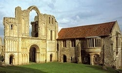 Ruins of the Castle Acre Priory, a Cluniac monastery.