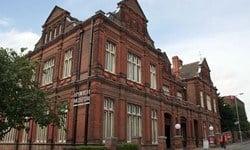 A street view of Ipswich Museum & Art Gallery, Ipswich.