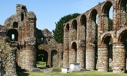 Ruins of St Botolph's Priory in Colchester, Essex.