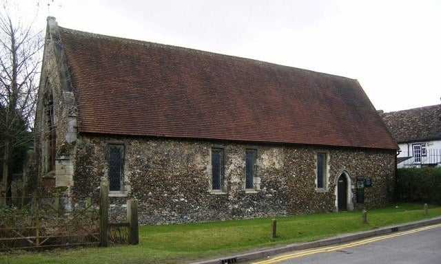 The 14th century Duxford Chapel in Cambridgeshire
