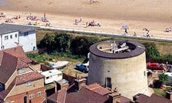 The defensive Dymchurch Martello Tower on the Kent coast.