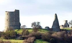 Remains of the 13th century Hadleigh Castle.