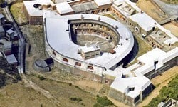 An aerial view of Landguard Fort, built to defend Harwich Harbour.