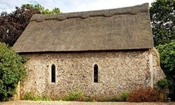 The 13th century Lindsey St. James's Chapel in Suffolk.
