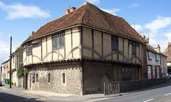 The 16th century building of Maison Dieu in Faversham, Kent.