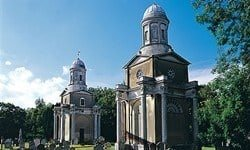 The two Mistley Towers are all that remains of Robert Adams' late 18th century neo-Classical church.