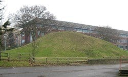 A mound in amongst the car parks of Slough, thought to be of Saxon age.