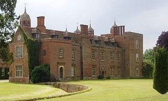The 16th century country house of Melford Hall.