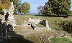 Remains of the Norman North Elmham Chapel.