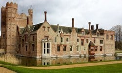 Oxburgh Hall is a 15th century manor house managed by the National Trust.