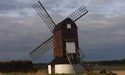 Pitstone Windmill, one of the oldest, functioning windmills in England.
