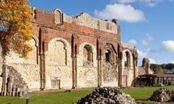 The ruined remains of St. Augustine Abbey in Kent.