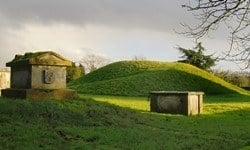 Taeppa's Mound in the old churchyard in Taplow, Buckinghamshire.