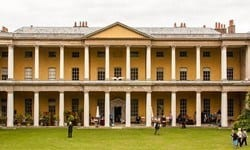 The strikingly unique neo-Classical manor house at West Wycombe Park.