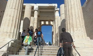 The entrance to the Acropolis in Athens.
