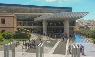 The entrance to the Acropolis Museum, Athens.