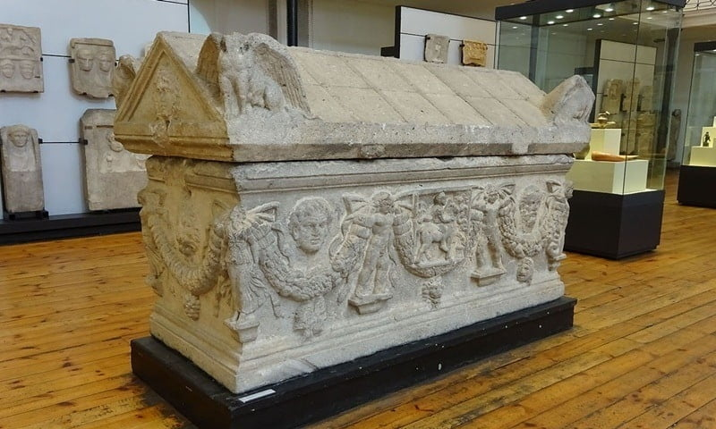 A Roman sarcophagus from Ratiaria in the National Archaeological Museum, Sofia.