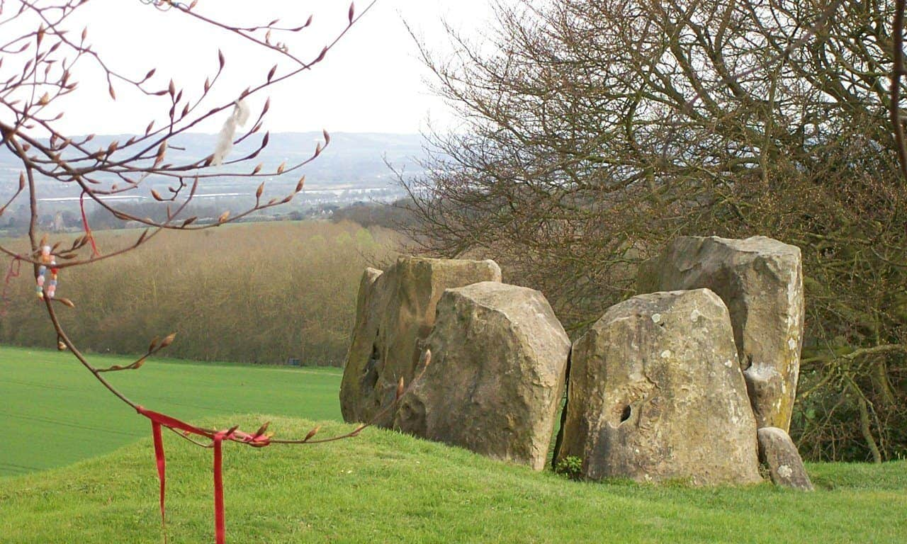 Coldrum Long Barrow, one of the Medway Megaliths in Kent, south east England.