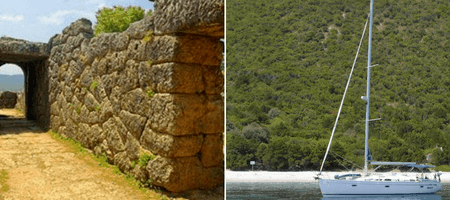 archaeology sailing tour in the Ionian Sea, Greece