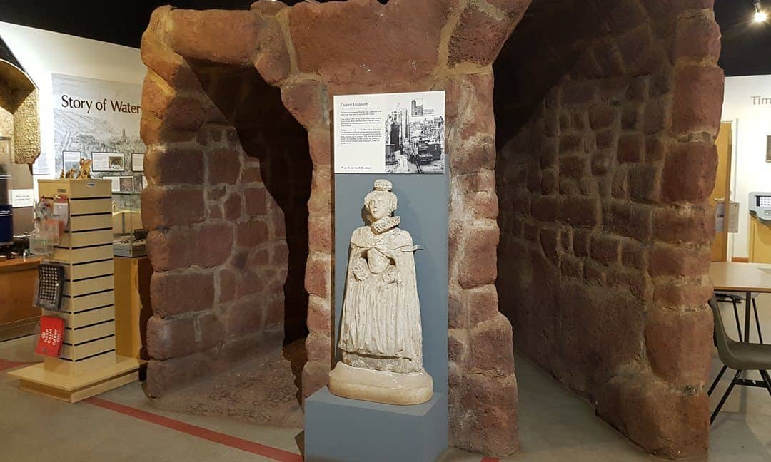 The Heritage Centre at Exeter's Underground Passages - numerous displays and interactive exhibits tell he story of this unique attraction.