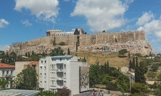 The Parthenon on the Acropolis in Athens.