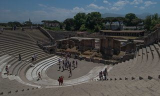 The theatre at Pompeii.