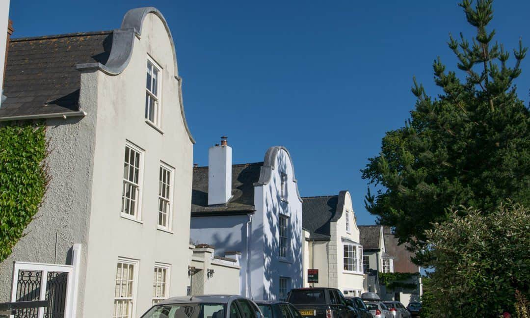 The immediately recognisable Dutch Gables on some of the houses in Topsham.