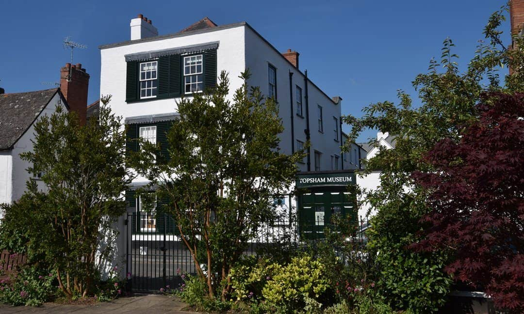 Topsham Museum, itself in a historic building on The Strand.