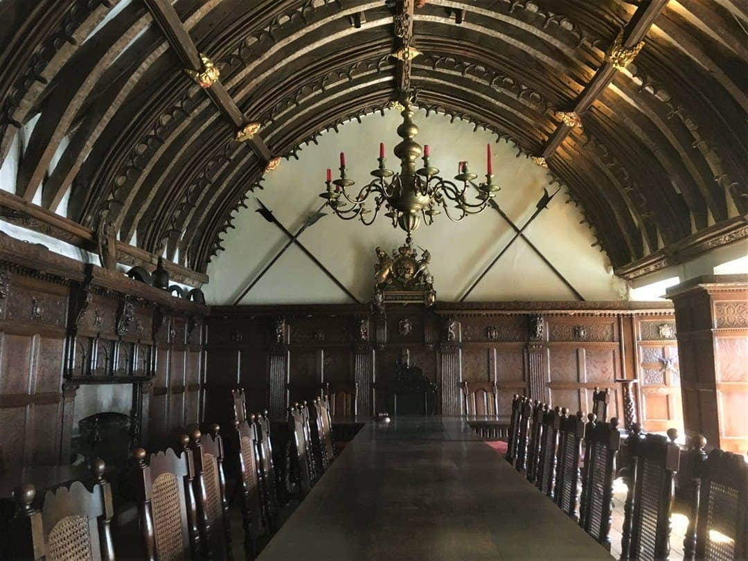 A view of the upper floor hall at Tuckers Hall Exeter.
