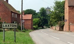 Entering the village of Laxton, Nottinghamshire.