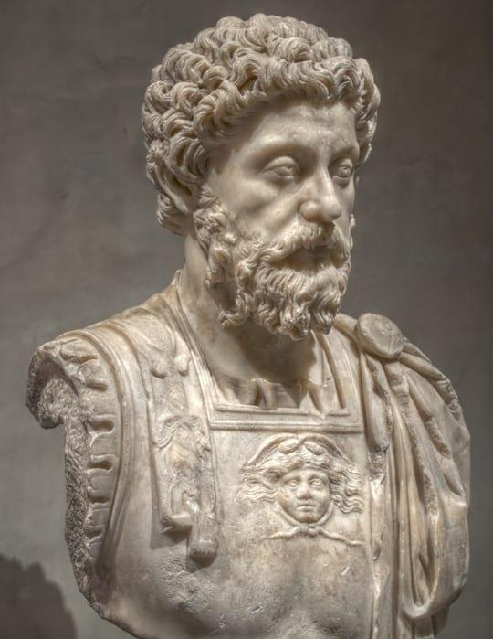Bust of Marcus Aurelius.