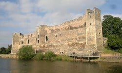 The ruins of Newark Castle on the banks of Trent River.