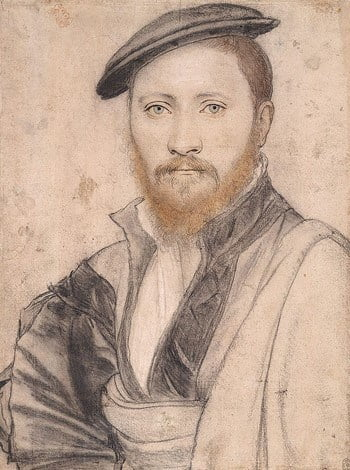 A portrait by Hans Holbein the Younger thought to be of Sir Ralph Sadler.