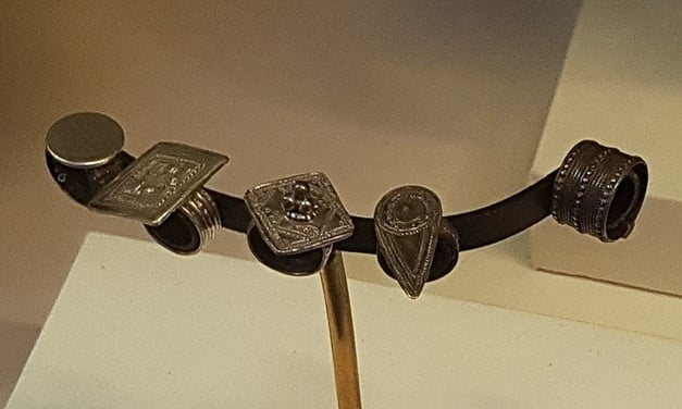 Set of rings from Oman, Royal Albert Memorial Museum, Exeter.