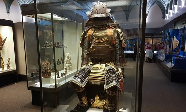 A composit Samurai costume in the Royal Albert Memorial Museum, Exeter.
