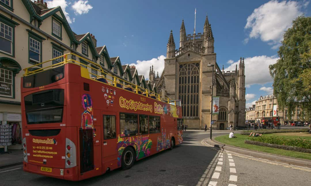 City Sightseeing Bath Bus at the Abbey.