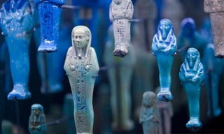 Part of the Egyptian exhibition on the ground floor of the Bristol Museum and Art Gallery