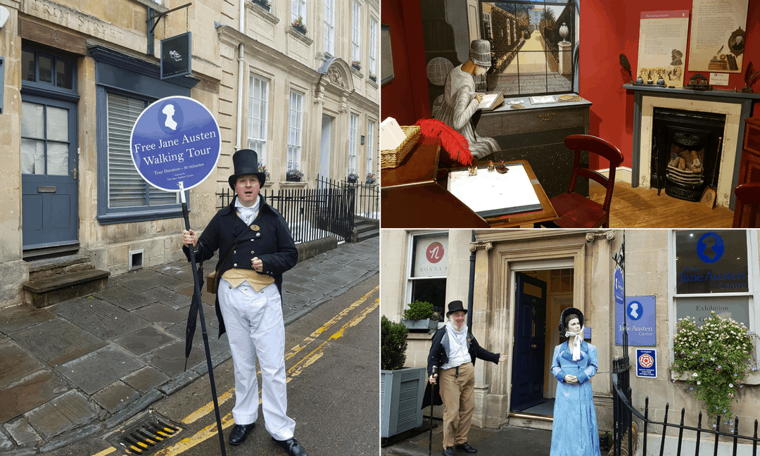 Following in the footsteps of Jane Austen in Bath.