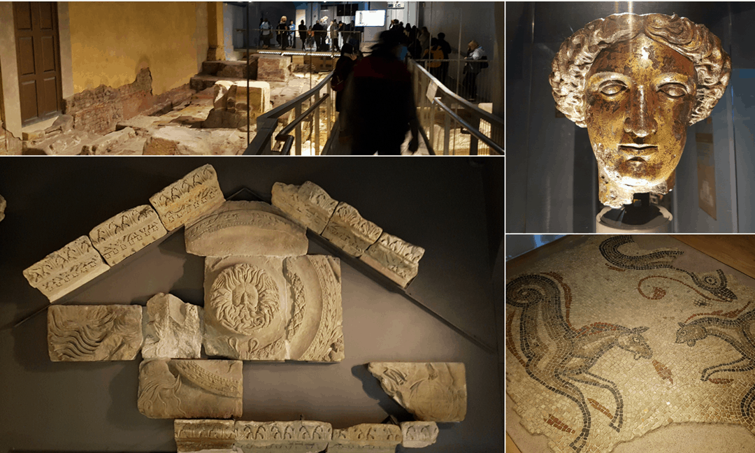 A state-of-the-art museum tells the story of the Roman Baths, with some magnificent artefacts on display.