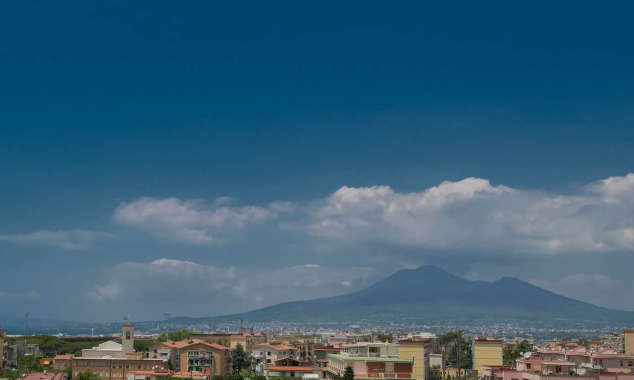 View of Vesuvius from the Villa San Marco, Castellammare di Stabia.