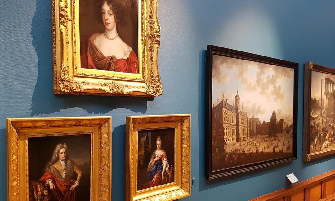 A few paintings from the permanent collection on display in the Upper Gallery at the Victoria Art Gallery in Bath.
