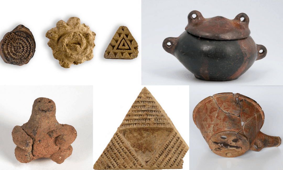 Artefacts from archaeological excavations on Gran Canaria.