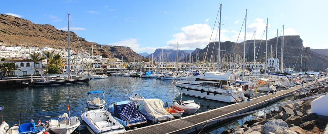 The marina at Puerto de Mogán, Gran Canaria.