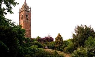 A view of Cabot Tower from Brandon Hill in Bristol.